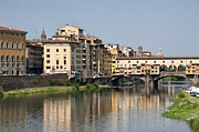 Architecture Photos Art - Ponte Vecchio and Vasari Corridor by Melany Sarafis