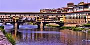 Ponte Vecchio Bridge - Florence Print by Jon Berghoff