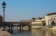 Florence Framed Prints - Ponte Vecchio in Florence Framed Print by Kiril Stanchev