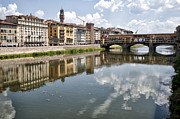 Best Sellers Posters - Ponte Vecchio on the Arno River Poster by Melany Sarafis