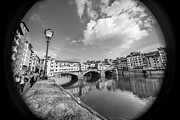 San Rafael Church Prints - Ponte Vecchio through the Barrel of a Lens Print by Arnaldo Torres