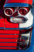 Taillights Framed Prints - Pontiac Bonneville Taillights Framed Print by Jill Reger