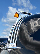 1948 Pontiac Chief Framed Prints - Pontiac Indian Hood Ornament Framed Print by Gill Billington