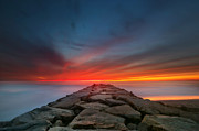 Larry Marshall Prints - Ponto Jetty Sunset 4 Print by Larry Marshall
