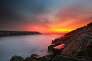 All - Ponto Jetty Sunset 5 by Larry Marshall