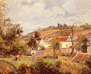 Tranquil Paintings - Pontoise by Camille Pissarro