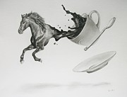 Pony Drawings Originals - Pony Expresso by Daniel Diehl
