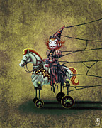 Horror Digital Art - Pony Ride by Tony Christou