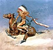 Pony War Dance Print by Frederic Remington