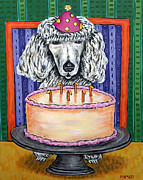 Jay Schmetz Framed Prints - Poodle Birthday Framed Print by Jay  Schmetz