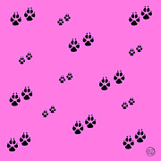 Paw Prints Digital Art - Poodle Paws by Absinthe Art By Michelle LeAnn Scott
