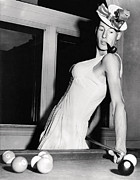 Pool Balls Photos - Pool Players Feminine Side by Underwood Archives
