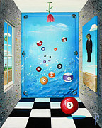 Rene Magritte Paintings - Pool Room by Donna Page
