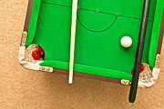 Cue Ball Posters - Pool table Poster by Tom Gowanlock