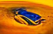 Bright Colors Glass Art Metal Prints - Pools of Color Metal Print by Omaste Witkowski
