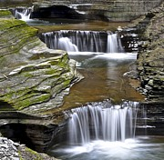 Watkins Glen State Park Prints - Pools of Green Print by Robert Harmon