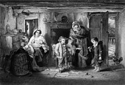 Poor People Prints - Poor Orphan Boy Begs at Cottage Door Print by Georgios Kollidas