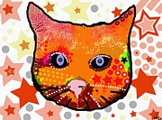 Stands Mixed Media - Pop Art Cat by David Rogers