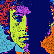 Bob Dylan Digital Art - Pop Art Dylan by David G Paul
