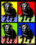 Labrador Digital Art - Pop Art Labrador Retriever by Lori Malibuitalian