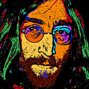 Pop Singer Framed Prints - Pop Art Lennon Framed Print by David G Paul