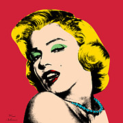 Lips Digital Art Posters - Pop Art Poster by Mark Ashkenazi
