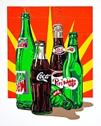 Glass Bottle Drawings Framed Prints - Pop Art Framed Print by Neil Garrison