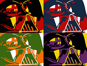 Wars Painting Metal Prints - Pop Art Vader Metal Print by Dale Loos Jr
