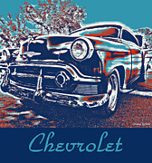 Rally Posters - Pop Art  Vintage Chevrolet Poster by Cheryl Young