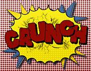 Superhero Prints - Pop CRUNCH Print by Suzanne Barber