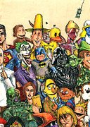 Batman Mixed Media - Pop Culture Ventriloquist Mashup by John Ashton Golden