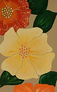 Large Format Originals - Pop Flower 1 by Linda Bailey