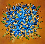 Decor Paintings - Pop Flowers by Cindy Thornton