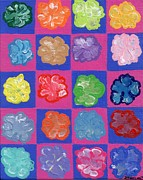 Warhol Painting Originals - Pop Flowers by Melissa Vijay Bharwani