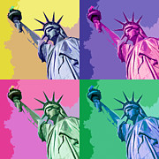 Pop Liberty Print by Delphimages Photo Creations
