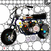 Mini Mixed Media Prints - Pop Mini Bike Print by Russell Pierce