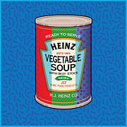 Modern Art Prints - POP Vegetable Soup Print by Gary Grayson