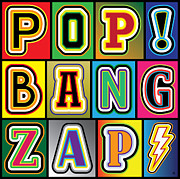 Pop Art Posters - POP Words Poster by Gary Grayson