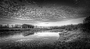 Pond Reflection Prints - Popcorn Sky Print by Everet Regal