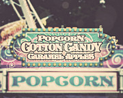 Cotton Candy Prints - Popcorn Stand Carnival Photograph from the Summer Fair Print by Lisa Russo