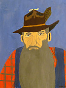 Moonshine Paintings - Popcorn Sutton by Jacob Kirk