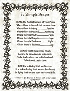 Pope Francis St. Francis Simple Prayer Fleury Of Faith Print by Claudette Armstrong