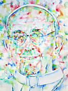 Francis Prints - POPE FRANCIS watercolor portrait Print by Fabrizio Cassetta