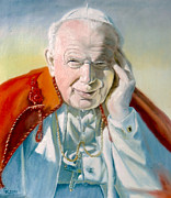 Skullcap Framed Prints - Pope John Paul II Framed Print by Henryk Gorecki