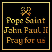 Papa Posters - Pope Saint John Paul II Pray for Us Poster by Rose Santuci-Sofranko