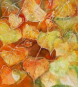 Poplar Leaves Print by Susan Crossman Buscho