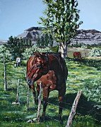 Quarter Horses Originals - Poplar Pasture by KaeLynn Winn