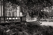 Kathleen K Parker - Popp Fountain Entrance - bw