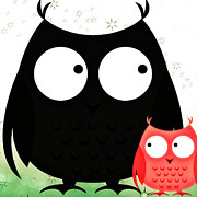 Big Poppa Posters - Poppa and Baby Owl  Poster by Chastity Hoff