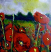 Poppies Field Paintings - Poppie by Kimberly Dawn Clayton